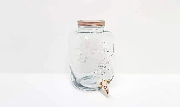 5ltr Dispenser with Rose Gold Lid and Tap