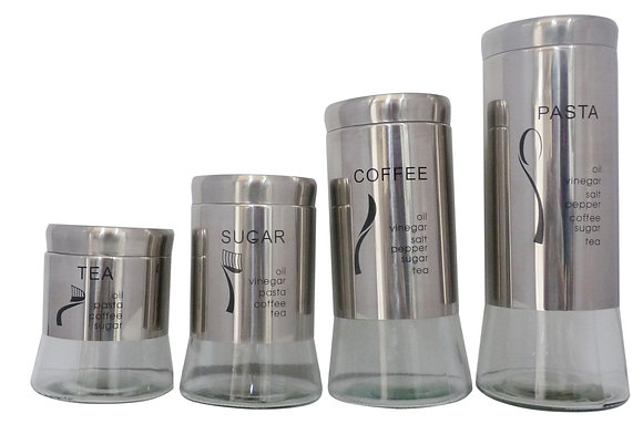 4 pcs Canister Set with Print & Design