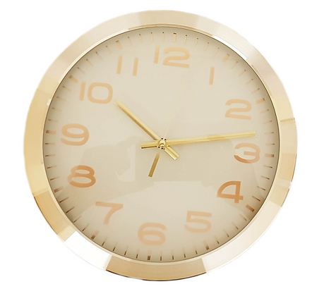 10 inch Gold Wall Clock