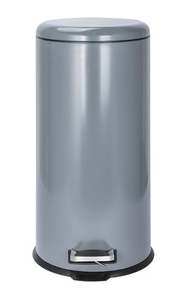 30Ltr Grey & Cream Pedal Bin