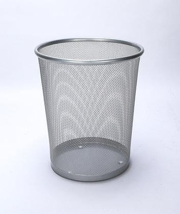 Mesh Trash Can (Shiny Grey)