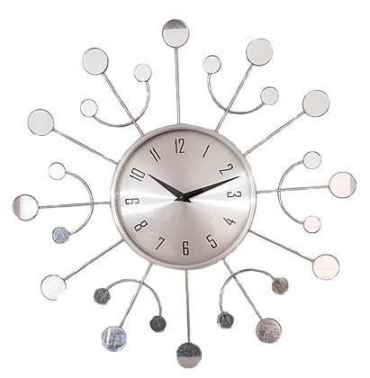 19.5 inch Round Mirror Design Wall Clock