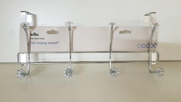 4 Over-The-Door Hooks (with diamond knobs)
