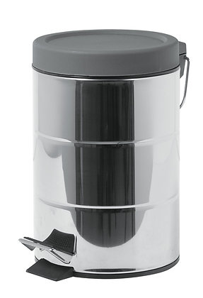 3ltr Stainless Steel (Decromated dent design) pedal bin with plastic lid.