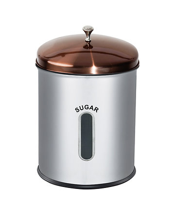 5ltr Storage Canister with Rose Gold Lid - Sugar, Flour, Rice, Mielie Meal
