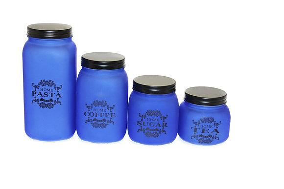 4 pcs Glass Jar