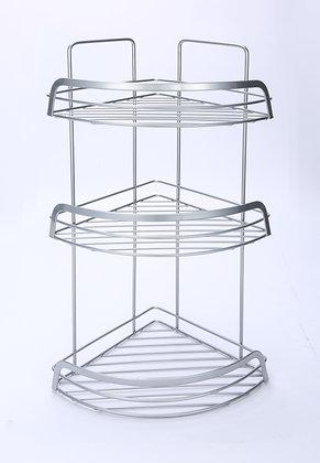 3 Tier Corner Shower Caddy (Shiny Grey)