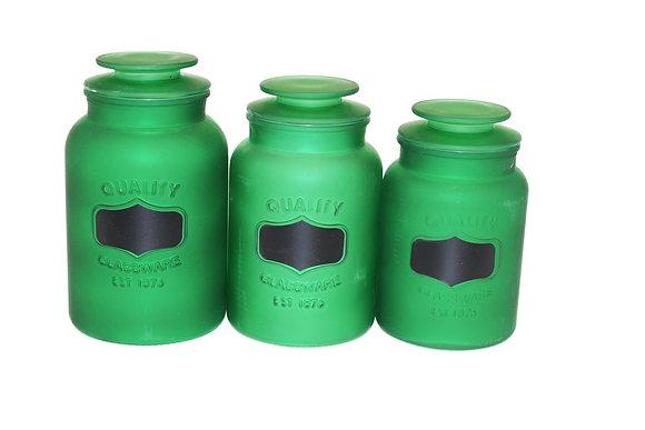 3 pcs Glass Jar