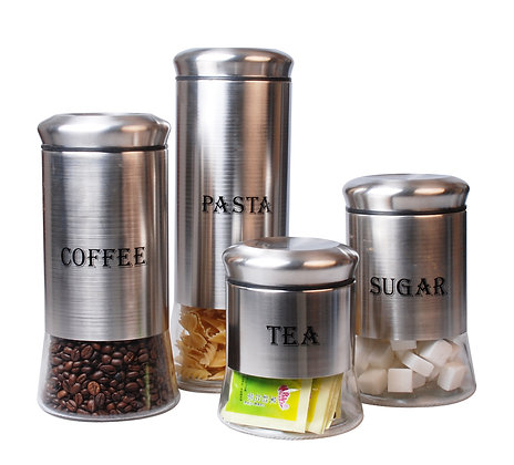 4 pcs Canister Set with Print
