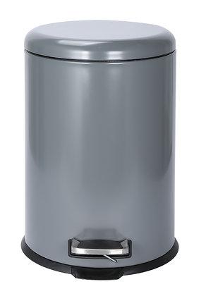 20Ltr Grey & Cream Pedal Bin