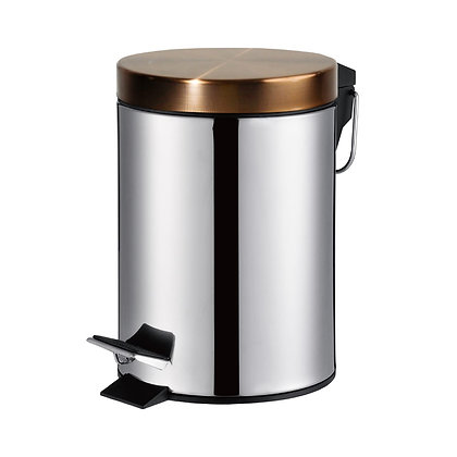3ltr Pedal Bin with Rose Gold Lid