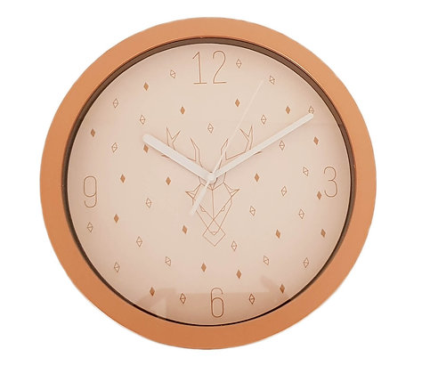 10 inch Copper Color (Deer Design) Wall Clock