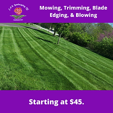 Mowing, Trimming, Blade Edging, & Blowin