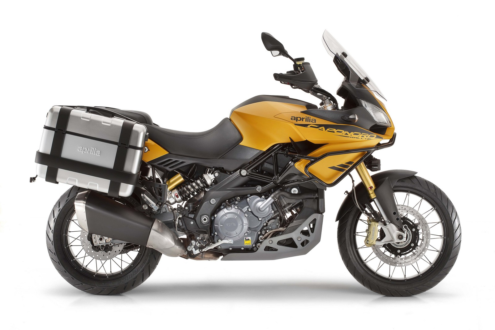 Aprilia Caponord Rally yellow side