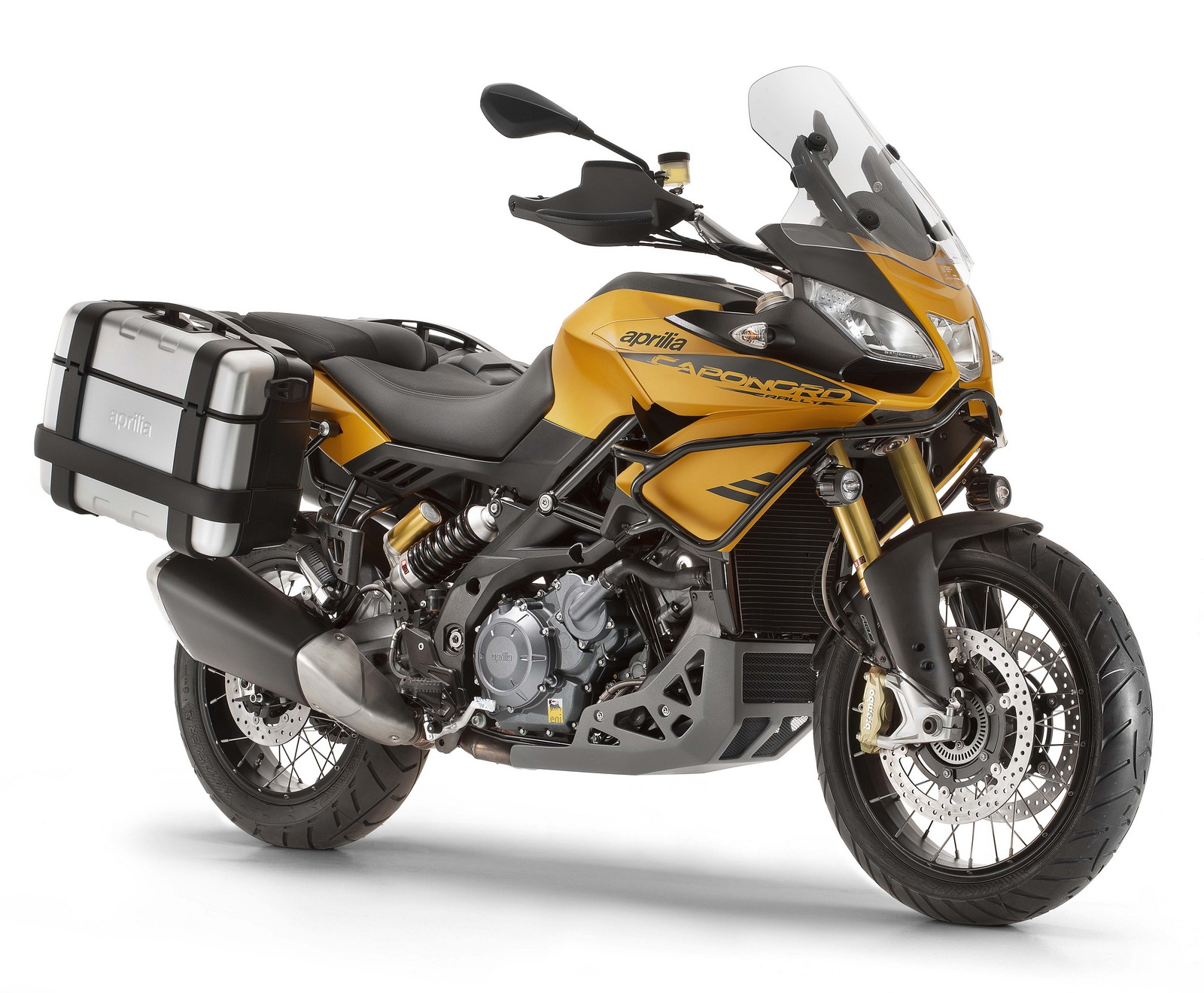 Aprilia Caponord Rally yellow front