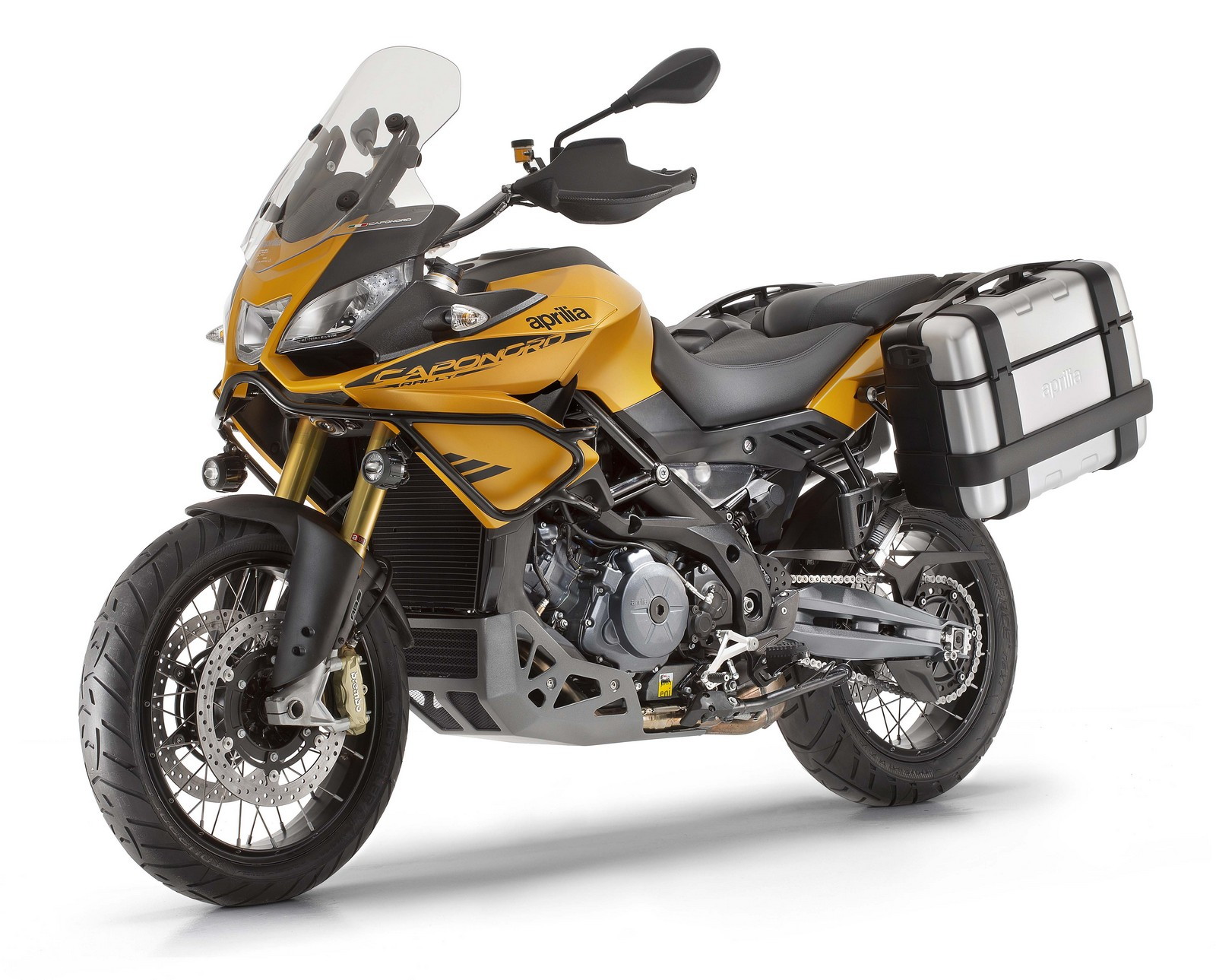 Aprilia Caponord Rally yellow front 2