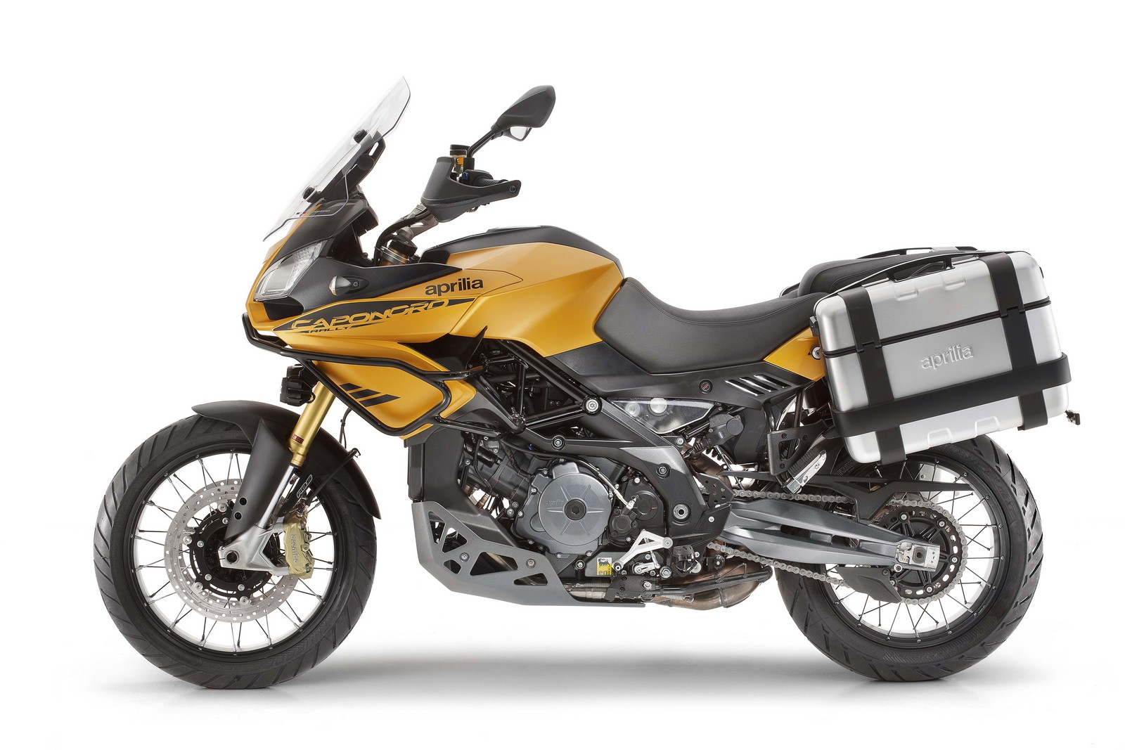 Aprilia Caponord Rally yellow side 2