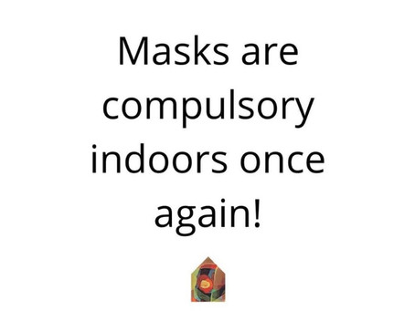Masks Must Be Worn Indoors Unless At a Food/Drink Venue