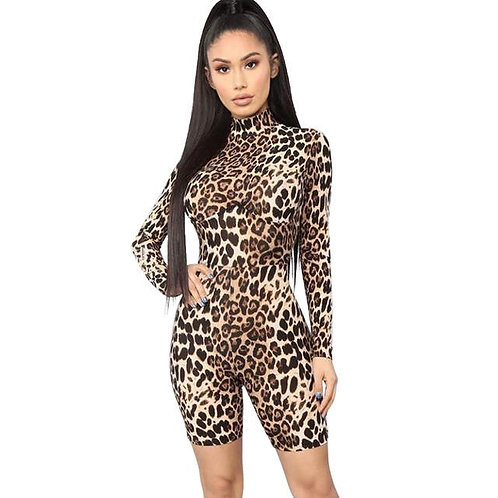 Velvet Leopard Romper
