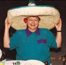 Kay Thomas sports a sombrero