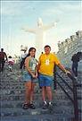 Dr. Tom Garrity poses in front of the Cristo de las Noas