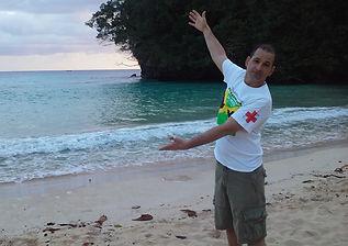 Dr. Greg Hill shows us the beach/ocean