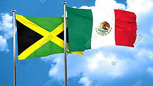 Jamaica and Mexico flags together