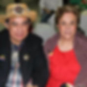 Elderly couple wait for their eye exam