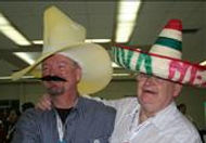 Dr. Thomas Garrity and Dr. Dan Rabbitt sport sombreros