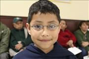 Young Boy happy with new glasses