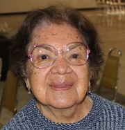 Smiling Elderly Woman with Glasses