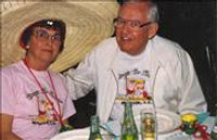 Dr. Phil Freitag and his senorita Rosemarie enjoy dinner together