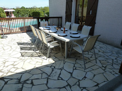 Outside eating area