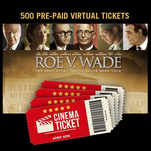 500 Pre-paid Virtual Tickets