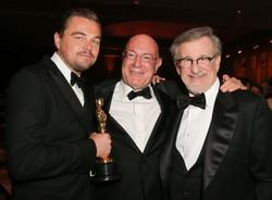 Leonardo DiCaprio, Arnon Milchan and Steven Spielberg