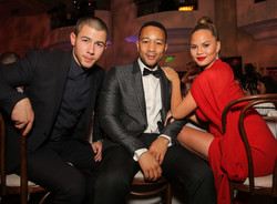 Nick Jonas, John Legend and Chrissy Teigen