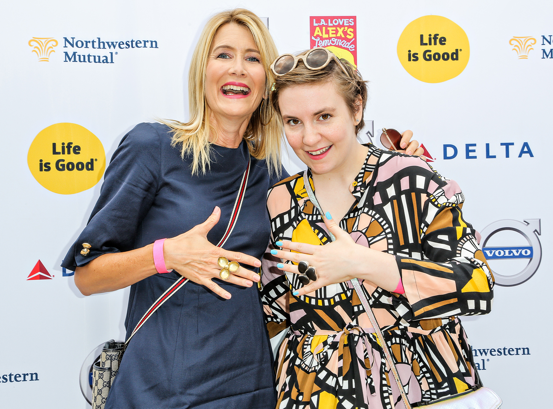 Laura Dern and Lena Dunham