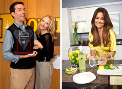 Ed Helms and Anne Heche and Brooke Burke for Bacardi