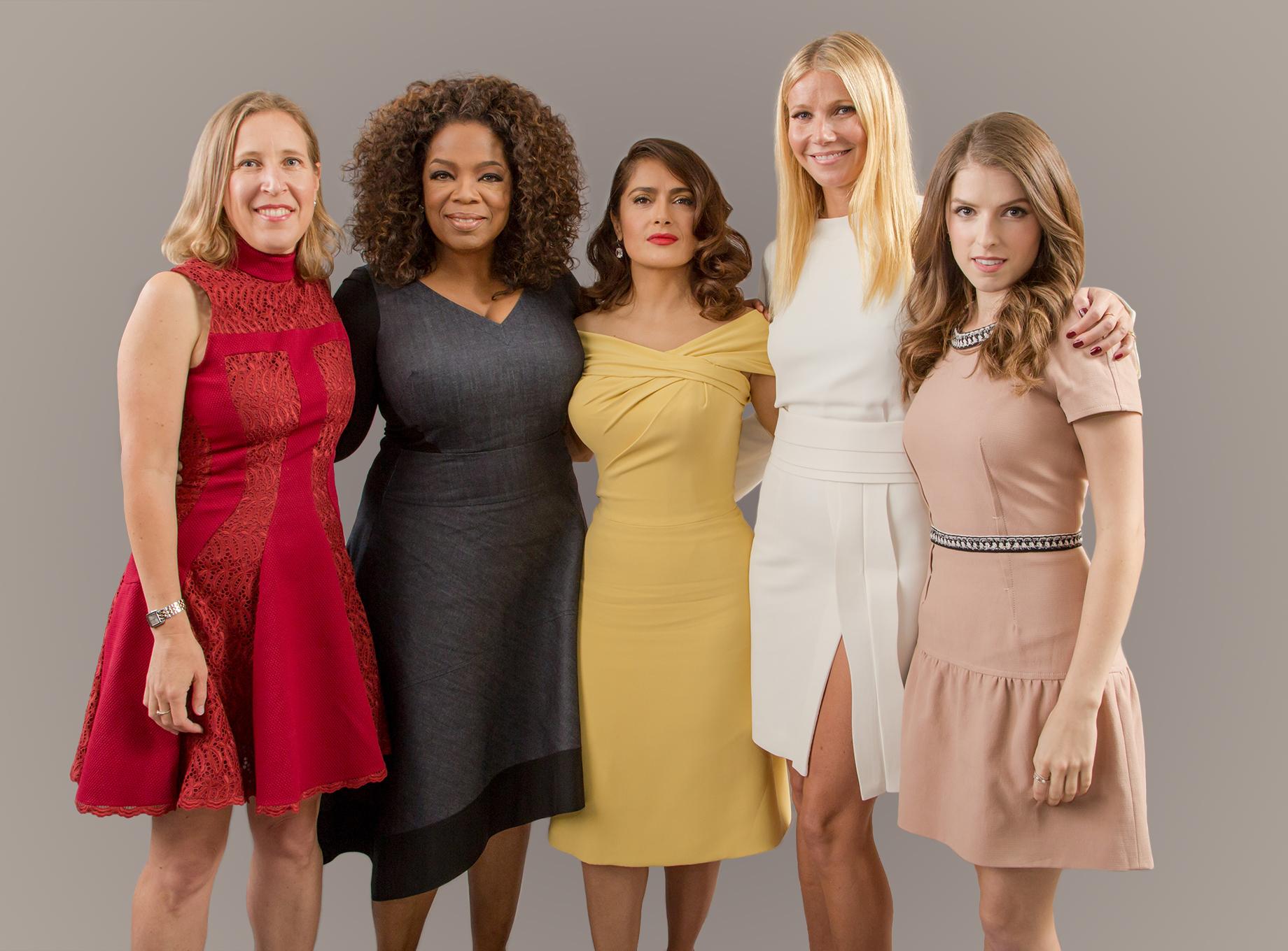 Susan Wojcicki, Oprah Winfrey, Salma Hayek, Gwyneth Paltrow and Anna Kendrick
