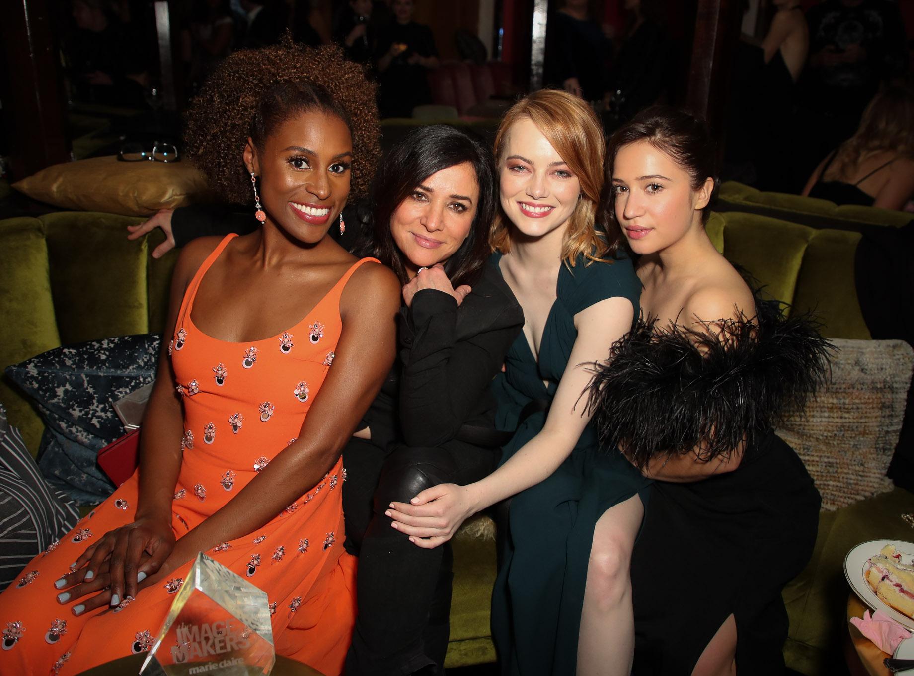 Issa Rae, Pamela Adlon, Emma Stone and