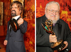 Peter Dinklage and George RR Martin
