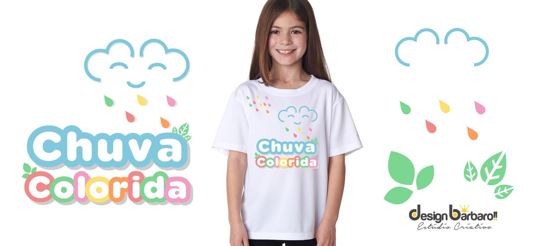 Logotipo Chuva Colorida