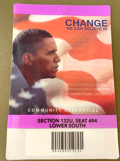Community Credentials - 2008 Democratic National Convention