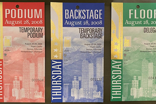 Backstage Pass - 2008 Democratic National Convention