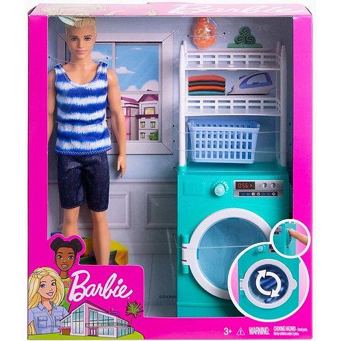Barbie Mobilier Ken et Lave-Linge