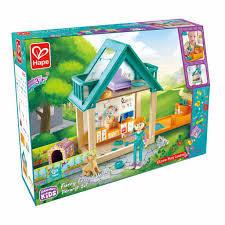 HAPE Maison en bois avec des personnages