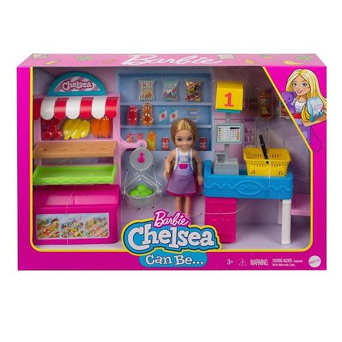 Barbie Chelsea supermarché