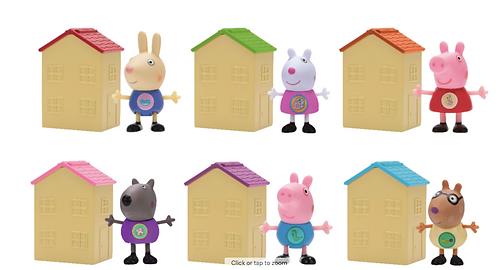 Maisons surprises du monde de Peppa Pig à collectionner