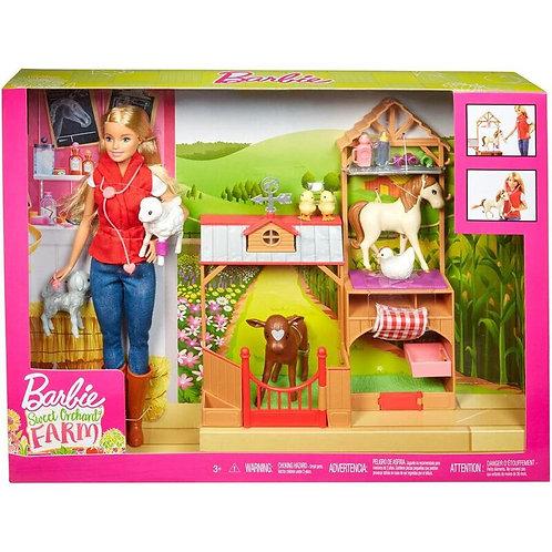 Barbie Coffret de jeu Vétérinaire de ferme