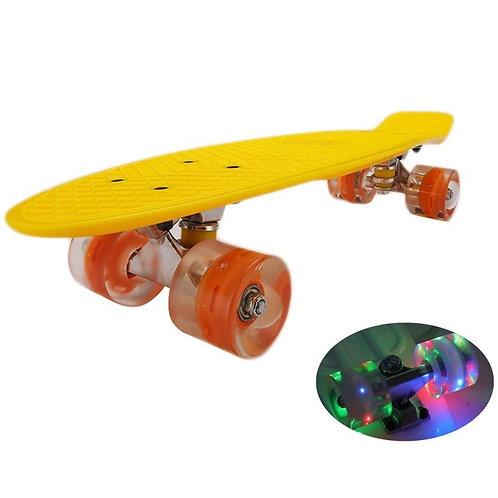 Skate board avec led